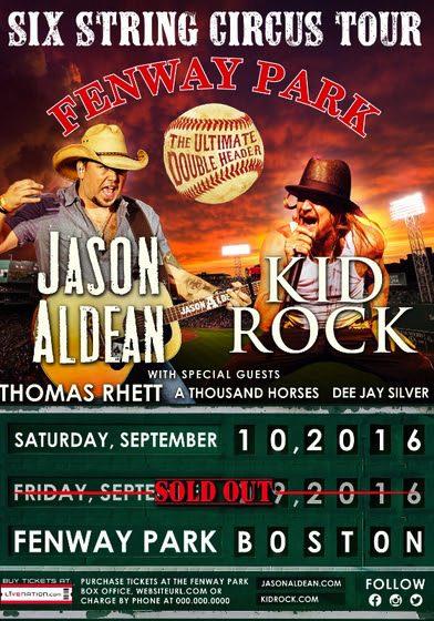 Jason Aldean Kid Rock show