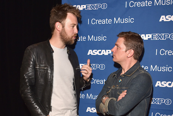 "Pictured: Singer-songwriters Charles Kelley (L) and Rob Thomas attend the 2016 ASCAP ""I Create Music"" EXPO. Photo by Lester Cohen/Getty Images for ASCAP"