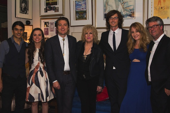 Pictured (L-R): Ethan Jodziewicz, Sierra Hull, Kenneth Pattengale, Lucinda Williams, Joey Ryan, Margo Price, Jed Hilly. Photo by Sarah Como