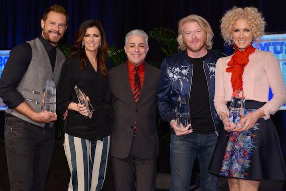 Pictured (L-R): Jimi Westbrook, Karen Fairchild, James Donio, Philip Sweet, Kimberly Schlapman. Photo: Music Biz