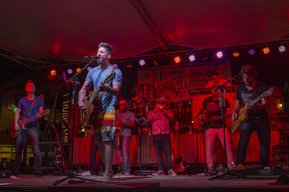 Jake Owen performs on the Duval Street Stage during Key West Songwriters Festival on May 7, 2016. (Erika Goldring Photo)