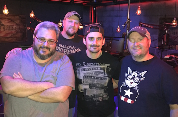 Pictured (L-R): Producer Patrick Thomas, Big D, BP and Bubba.