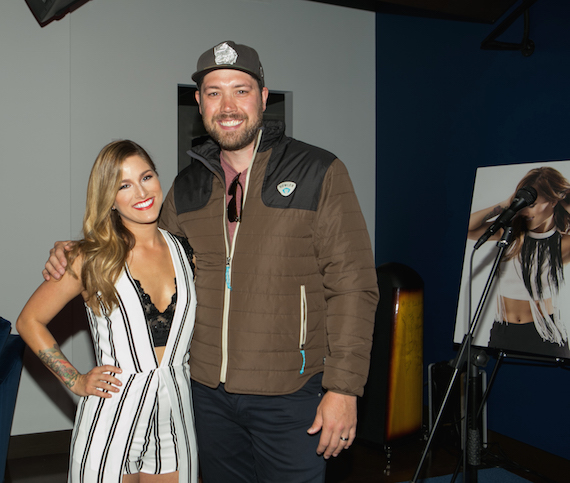Pictured (L-R): Cassadee Pope, Corey Crowder. Photo: courtesy BMLG