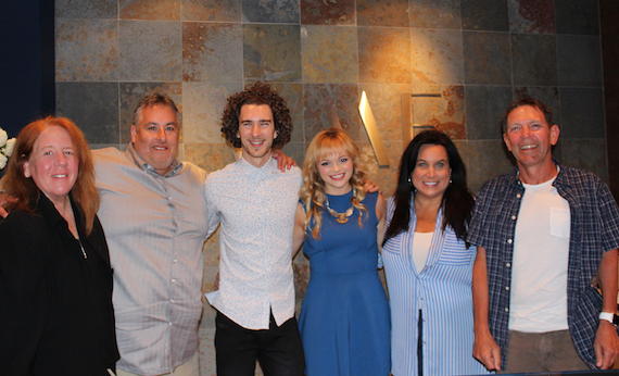 Pictured (L-R): Gellman Management's Gail Gellman, WME's Joey Lee, Cross Atlantic's Karli Chayne and James Sinclair Stott, WME's Risha Rodgers and Greg Oswald.