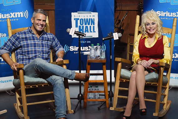 Pictured (L-R): Andy Cohen, Dolly Parton. Photo: Rick Diamond