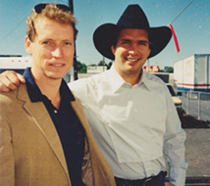 Bob Doyle with Garth Brooks in 1988.
