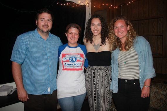 Pictured: (L-R): BMI's Mason Hunter, ALT983's Jess Kelley, BMI songwriter Jess Nolan and BMI's Nina Carter