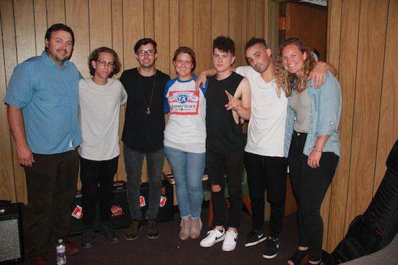 BMI's Mason Hunter (far left), ATL983's Jess Kelley (center) and BMI's Nina Carter (far right) pose with the members of Nightly