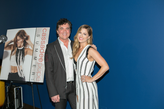 Pictured (L-R): BMLG president/CEO and founder Scott Borchetta, Cassadee Pope.