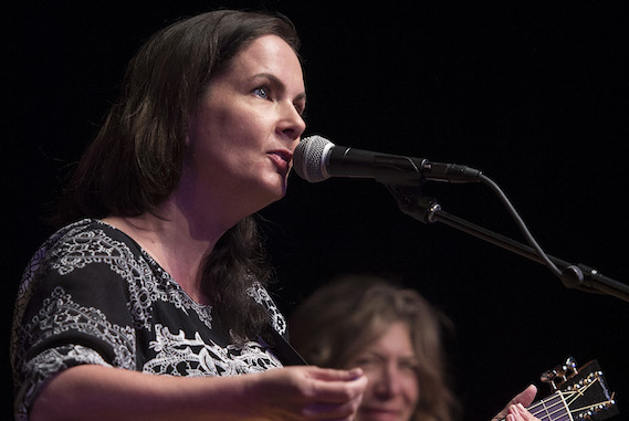 Lori McKenna and Ashley Cleveland perform at the San Carlos Institute during Key West Songwriters Festival on May 5, 2016. (Erika Goldring Photo)