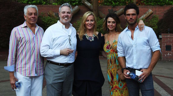 Pictured (L-R): Mike McVay, Cumulus/Westwood One SVP Content & Programming; Blair Garner, America's Morning Show's co-host; Kelly Ford, AMS co-host; Tasha Blasi, SVP Sales & Marketing for NASH; and Chuck Wicks, AMS co-host and Camp NASH MC and performer.