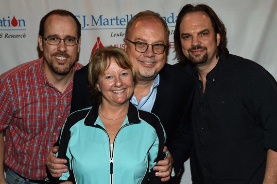 Word Records' Robby Clinton, Peermusic's Kim Wiggins, Dungan, and MusicRow Publisher Sherod Robertson
