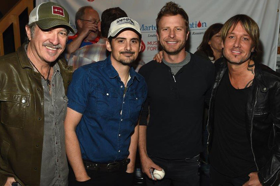 Artists Kix Brooks, Brad Paisley, Dierks Bentley and Keith Urban.