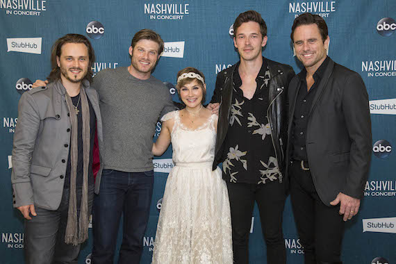 The stars of ABC's show Nashville perform in the Theater at Madison Square Garden in New York City.