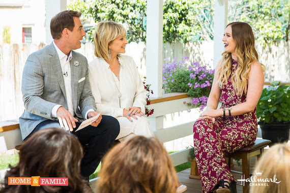 Olivia Lane visits Home & Family. Copyright 2016 Crown Media Family Networks/Photographer: Steve Lucero