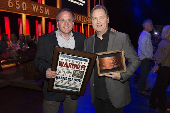 Pictured (L-R): Pete Fisher and Steve Wariner. Photo: Grand Ole Opry