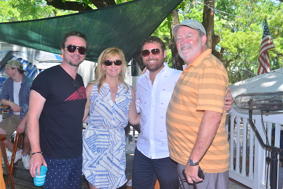 Pictured (L-R): Royston Langdon, SESAC's Ellen Truley, Robby Towns and Steve Bogard.
