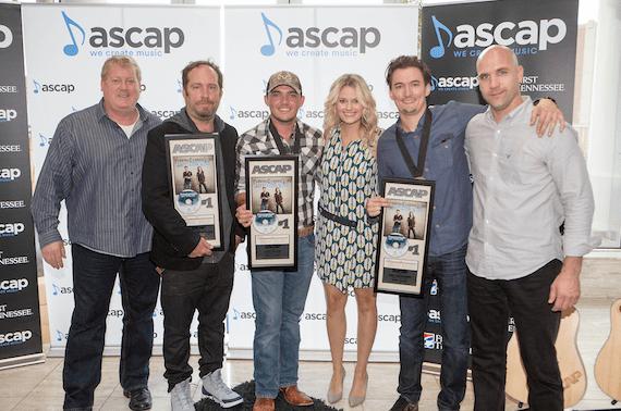 Pictured (L-R): Mike Sistad, ASCAP; Felix McTeigue; Cole Taylor; Beth Brinker, ASCAP; Matt Dragstrem; Robert Filhart, ASCAP. Photo: Ed Rode