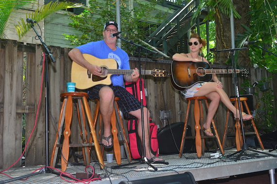 Songwriters Brian White and Jesse Lee perform at the Brunch.