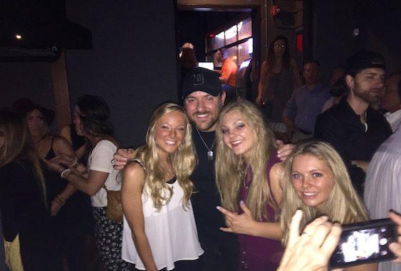 Pictured (L-R): Natalia Morris, Chris Young, Christina Morris and Hannah Morris.