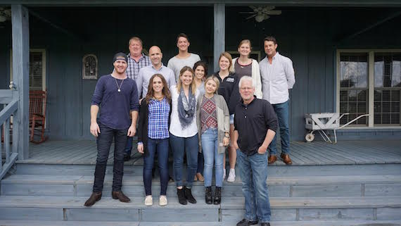 Pictured (L-R), Front Row: Drew Green, Sarah Feldman (Writer's Den), Tori Tullier, Hayley Reardon, and Bobby Rymer (Writer's Den). Back Row: Mike Sistad (ASCAP), Robert Filhart (ASCAP), Thomas Finchum, Brittany Kennell, Anna Vaus, Jilian Linklater, and Michael Martin (ASCAP).