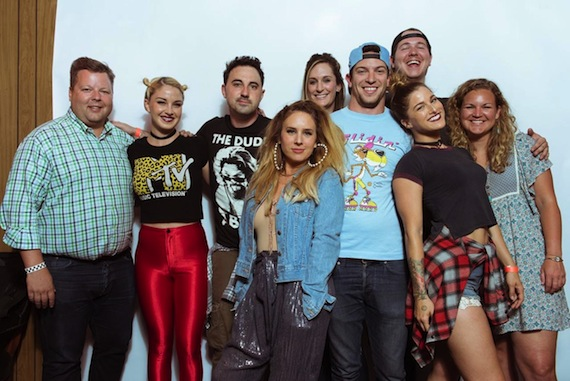 Photo (L-R): Bradley Collins, BMI; Maggie Rose, artist; Derek Wells, band; Lucie Silvas, artist; MaryAnn Keen, YEP Board; Andrew Cohen, YEP Exec. Director/Suit Music; Cassadee Pope, artist; Josh Tomlinson, BMI; Nina Carter, BMI. Photo: Jason Myers Photography