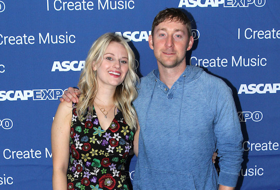 "ASCAP Creative Director Beth Brinker (L) and songwriter Ashley Gorley attend the 2016 ASCAP ""I Create Music"" EXPO. Photo by Maury Phillips/Getty Images for ASCAP"