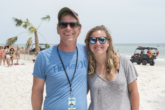 Pictured (L-R): Sean O'Connell, Hangout Music Festival founder; Nina Carter, BMI. Photo: Erika Goldring