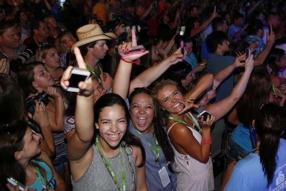 Fans at 2015 CMA Music Festival in downtown Nashville. Photo: CMA