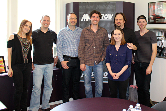 James Dupre with MusicRow staff.