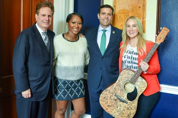 Pictured (L-R): ASCAP Board Member Dan Foliart, songwriter Priscilla Renea, Rep. John Ratcliffe (R-TX) and songwriter MoZella