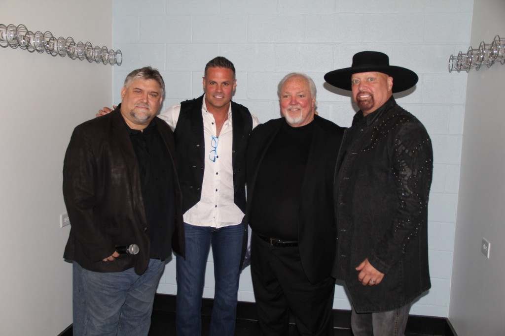 Pictured (L-R): Renegade Radio Nashville's Robby Lynn, Troy Gentry, Founder of Layman Lessons Louie Johnston, Eddie Montgomery