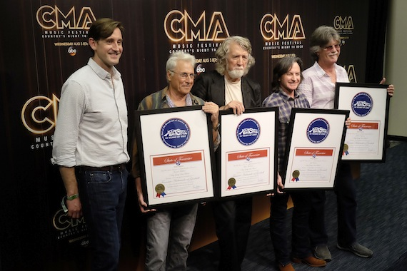 Pictured: Brian Wagner, Nitty Gritty Dirt Band members Jimmie Fadden, John McEuen, Jeff Hanna and Bob Carpenter. Photo: J. Scott Whigham