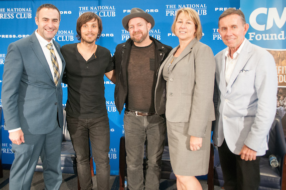 Pictured (L-R): National Press Club President Thomas Burr, Charlie Worsham, Kristian Bush, CMA CEO Sarah Trahern and CMA Foundation Board President Joe Galante.