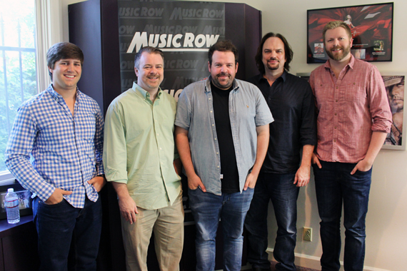 Pictured (L-R): Will Overton, A&R Manager, Warner/Chappell Nashville.; Ben Vaughn, EVP, Warner/Chappell Music Publishing; Donovan Woods; Sherod Robertson, Owner/Publisher, MusicRow; BJ Hill, TITLE, Warner/Chappell Music Publishing