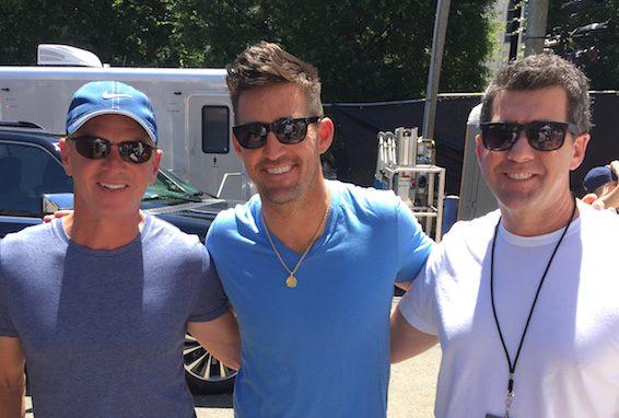 Pictured (L-R): Steve Hodges, Jake Owen, Ken Robold. Photo: RCA Nashville