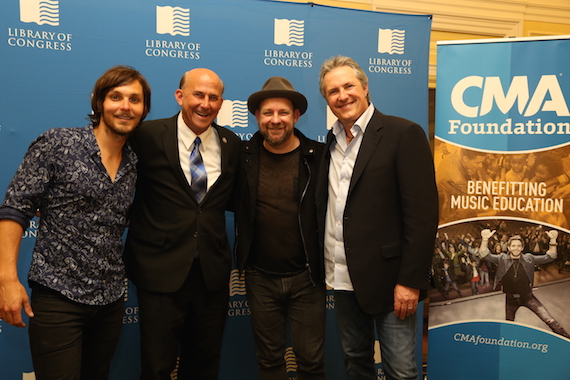 Pictured (L-R): Charlie Worsham, Gohmert, Kristian Bush and Jim Collins. Photo : Lisa Nipp/CMA