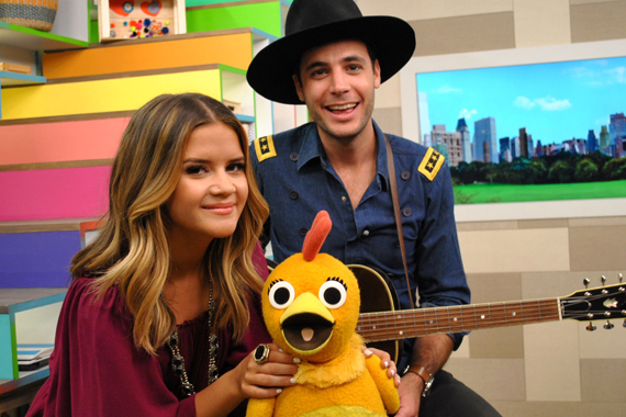 Pictured (L-R): Maren Morris, Chica, Bennet Lewis. Photo: Courtesy of Sprout