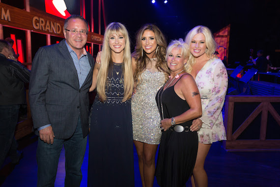 Pictured (L-R): Pete Fisher (Vice President, General Manager at Grand Ole Opry) Whitney Duncan, Shelby McLeod, Lorrie Morgan, Ashlee Hewitt. Photo: Chris Hollo