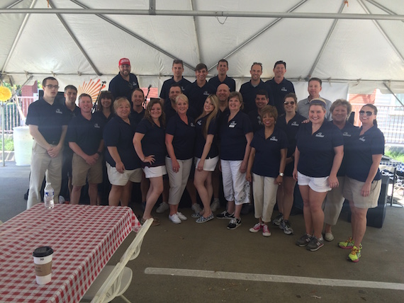 SunTrust staffers during 18th annual Hot Dog Day