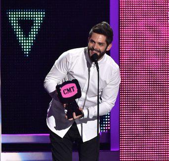 Thomas Rhett wins CMT Male Video of the Year.