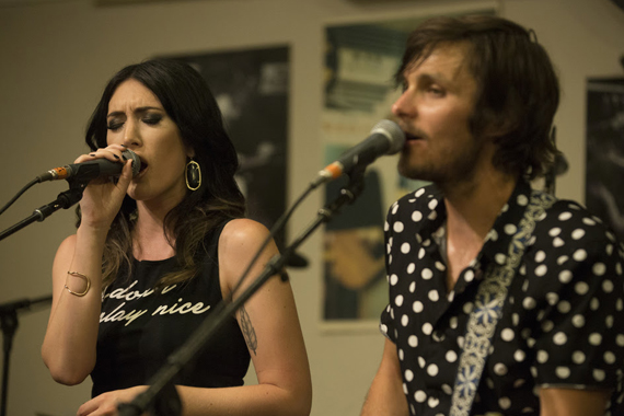 Pictured (L-R): Aubrie Sellers, Charlie Worsham. Photo: Brody Harper.