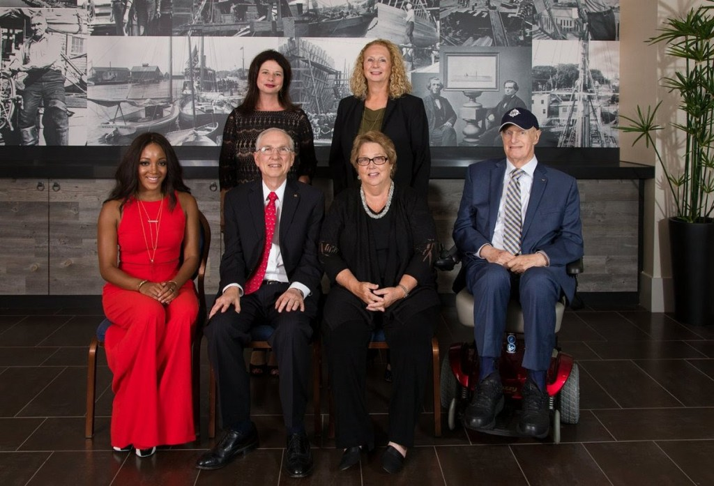 Front row: BMI affilliate Mickey Guyton, Hall Communications President Art Rowbotham, Hall Communications Board Chairwoman Bonnie Rowbotham and Hall Communications Executive Vice President Bill Baldwin. Back row: BMI's Jessica Frost and Hall Communications CFO Janet Hamm.