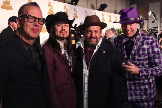 Pictured (L-R): The Mavericks - Paul Deakin, Eddie Perez, Raul Malo & Jerry Dale McFadden. Photo by Trey Fanjoy