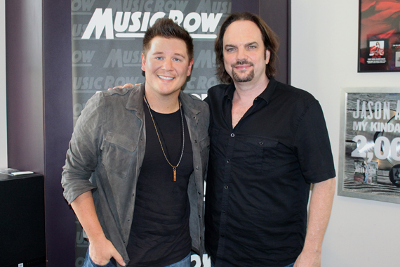 Pictured (L-R): Adam Craig, MusicRow Owner Sherod Robertson