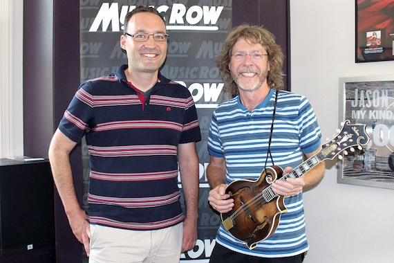 Pictured (L-R): Craig Shelburne, GM, MusicRow; Sam Bush