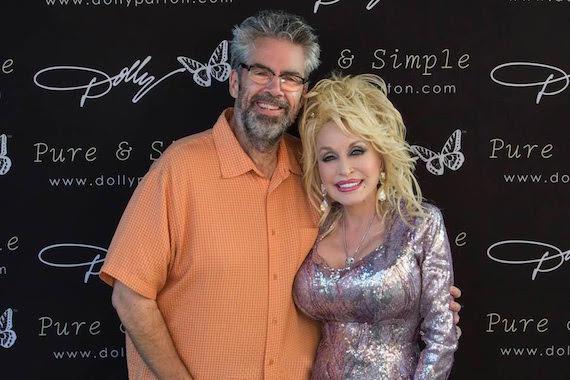 Tom Baldrica with Dolly Parton.