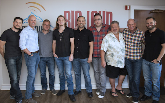 """Pictured (L-R):Big Loud Records'partnersKevin """"Chief"""" Zaruk,Clay Hunnicutt, Working Group Artist Management'sMikeBachta, Morgan Wallen,Working Group Artist Management'sDirk Hemsath, Big Loud Records' partnersJoey Moi,Craig Wiseman, WME's Kevin NealandBig Loud Records' partner Seth England"""