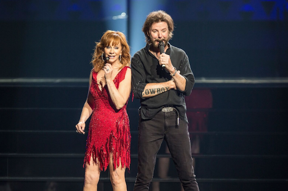 Reba and Ronnie Dunn at The Colosseum at Caesars Palace. Photo: Justin McIntosh