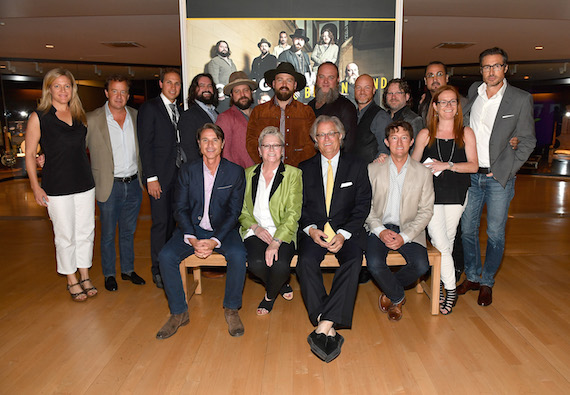 Pictured (Back Row, L-R): Liz Norris, Will Ward, Musical artist Jimmy De Martini, songwriter Clay Cook, music arranger Coy Bowles, singer Zac Brown, musician John Driskell Hopkins, musical artist Matt Mangano, drummer Chris Fryar and percussionist Daniel de los Reyes from Zac Brown Band, Kristina Tanner, Bernie Cahill. Front row (L-R): Matt Maher, ROAR; Carolyn Tate, Senior VP of Museum Services; Kyle Young, CEO of Museum Services; David Plyler, ROAR. Photo: Jason Davis/Getty Images for Country Music Hall Of Fame & Museum